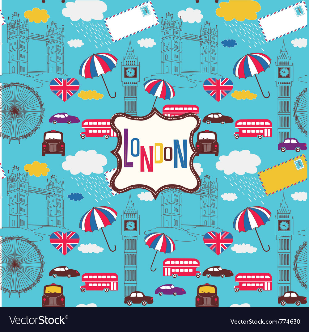 London screenprint design vector | Price: 1 Credit (USD $1)
