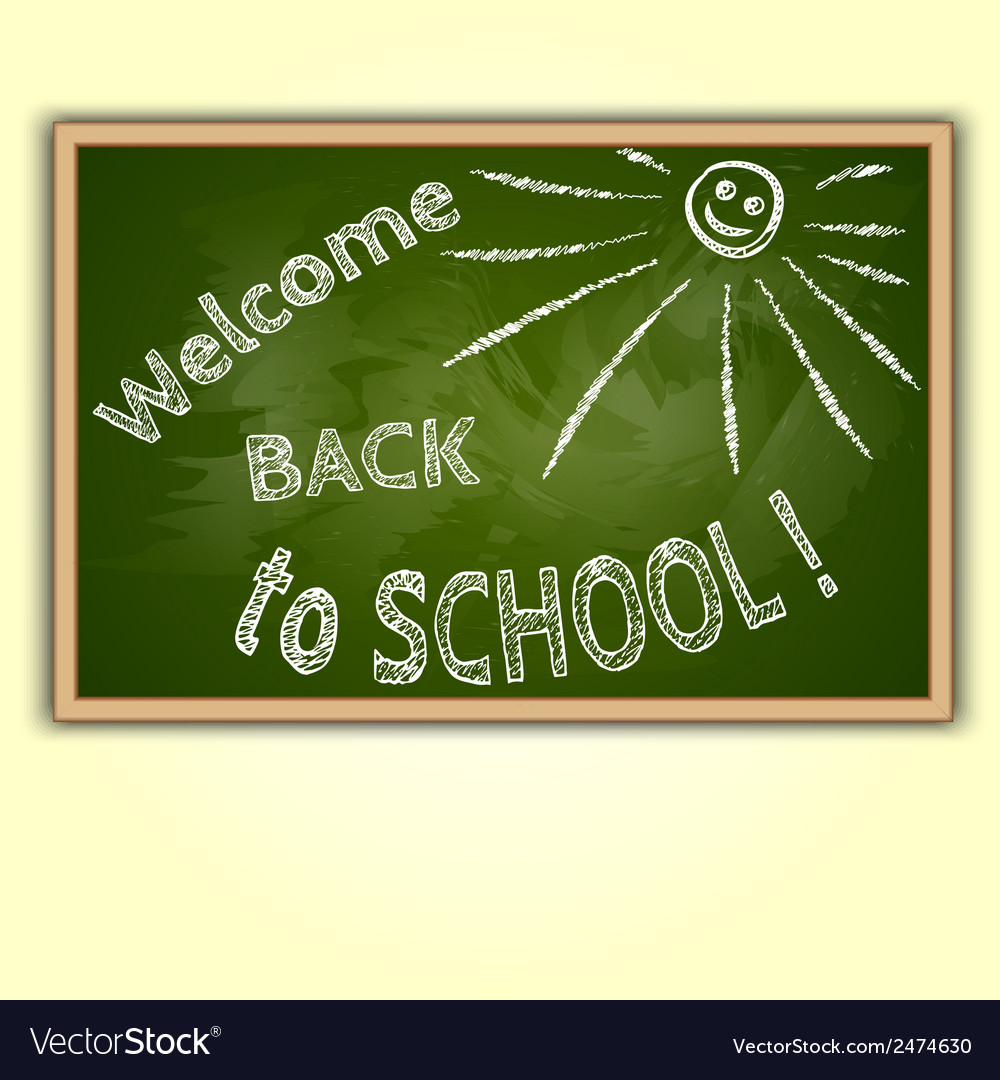 School blackboard with back to school text vector | Price: 1 Credit (USD $1)