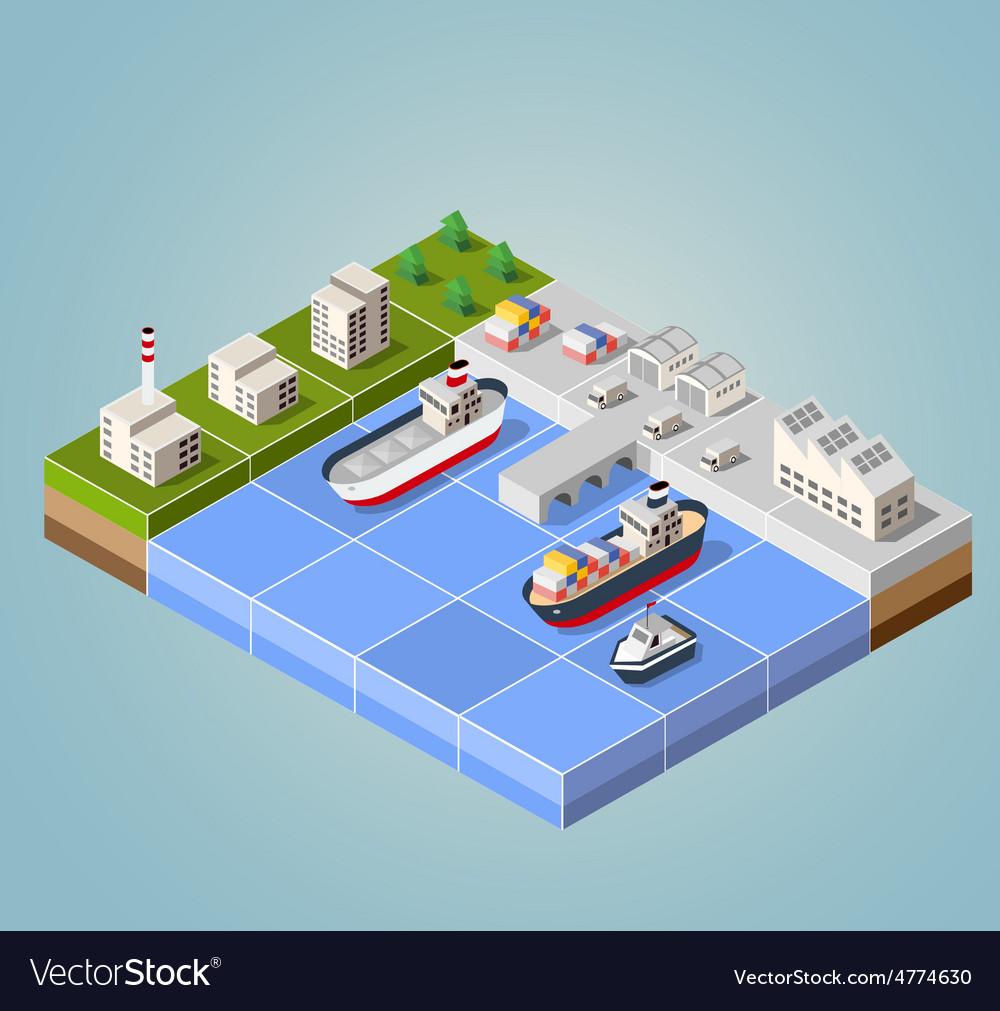 Seaport vector | Price: 1 Credit (USD $1)
