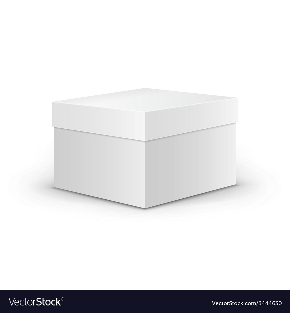 White square blank box vector | Price: 1 Credit (USD $1)
