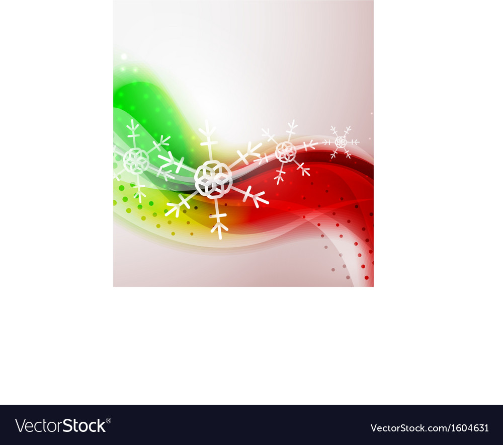 Abstract christmas wavy line background vector   Price: 1 Credit (USD $1)