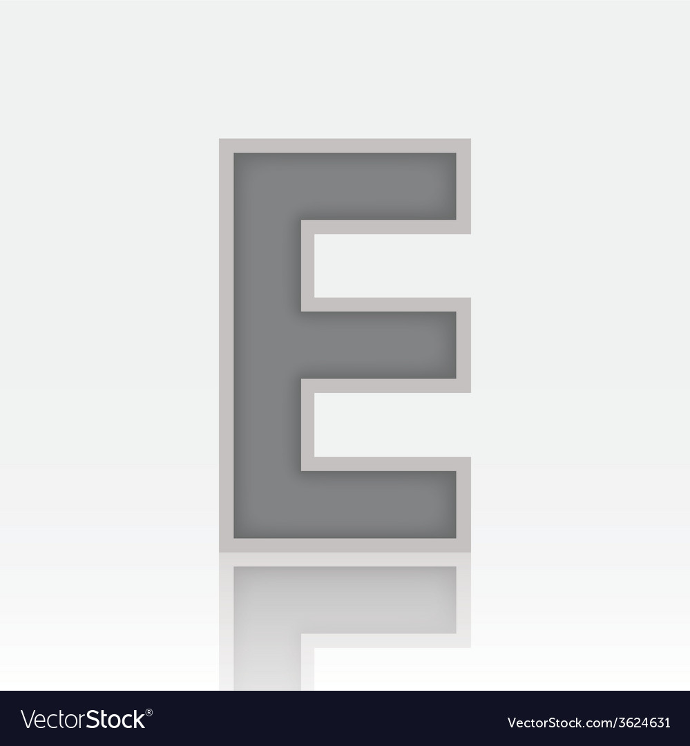 Alphabet e vector | Price: 1 Credit (USD $1)