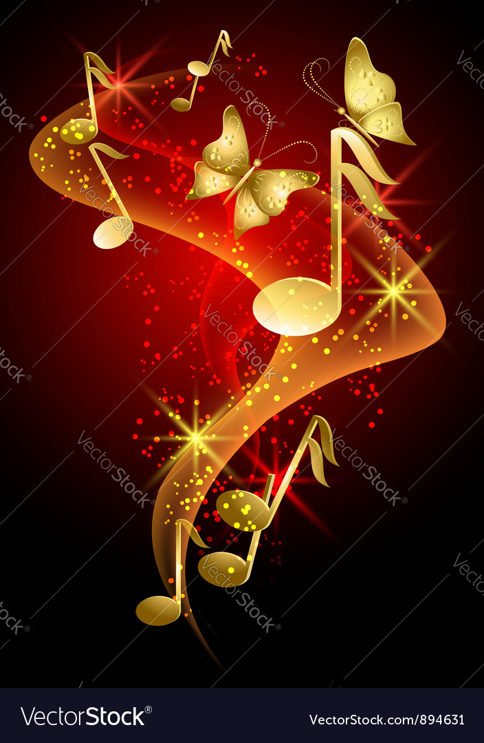 Decorative musical background vector | Price: 1 Credit (USD $1)