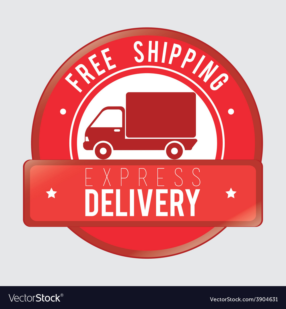 Delivery design over gray background vector | Price: 1 Credit (USD $1)