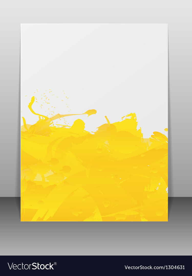Greeting card with paint splashes vector | Price: 1 Credit (USD $1)