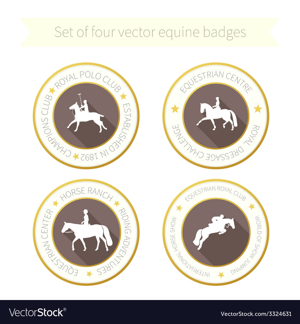 Horse rossette collection vector | Price: 1 Credit (USD $1)
