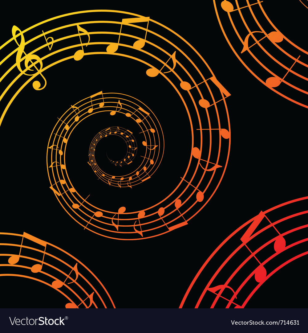 Music spiral background vector | Price: 1 Credit (USD $1)