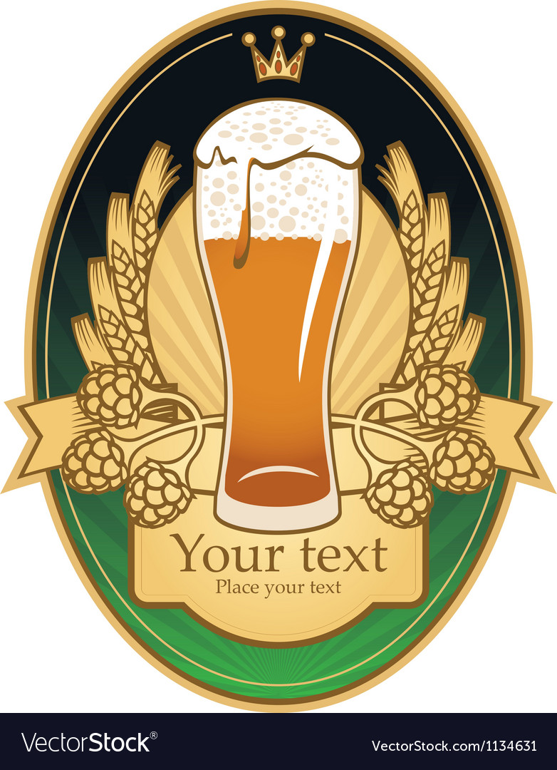 Pint label vector | Price: 3 Credit (USD $3)