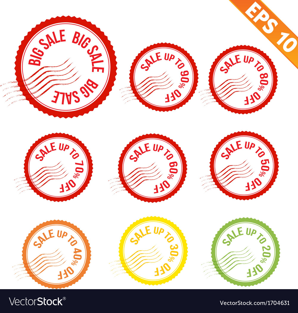 Rubber stamp sale tag - - eps10 vector | Price: 1 Credit (USD $1)