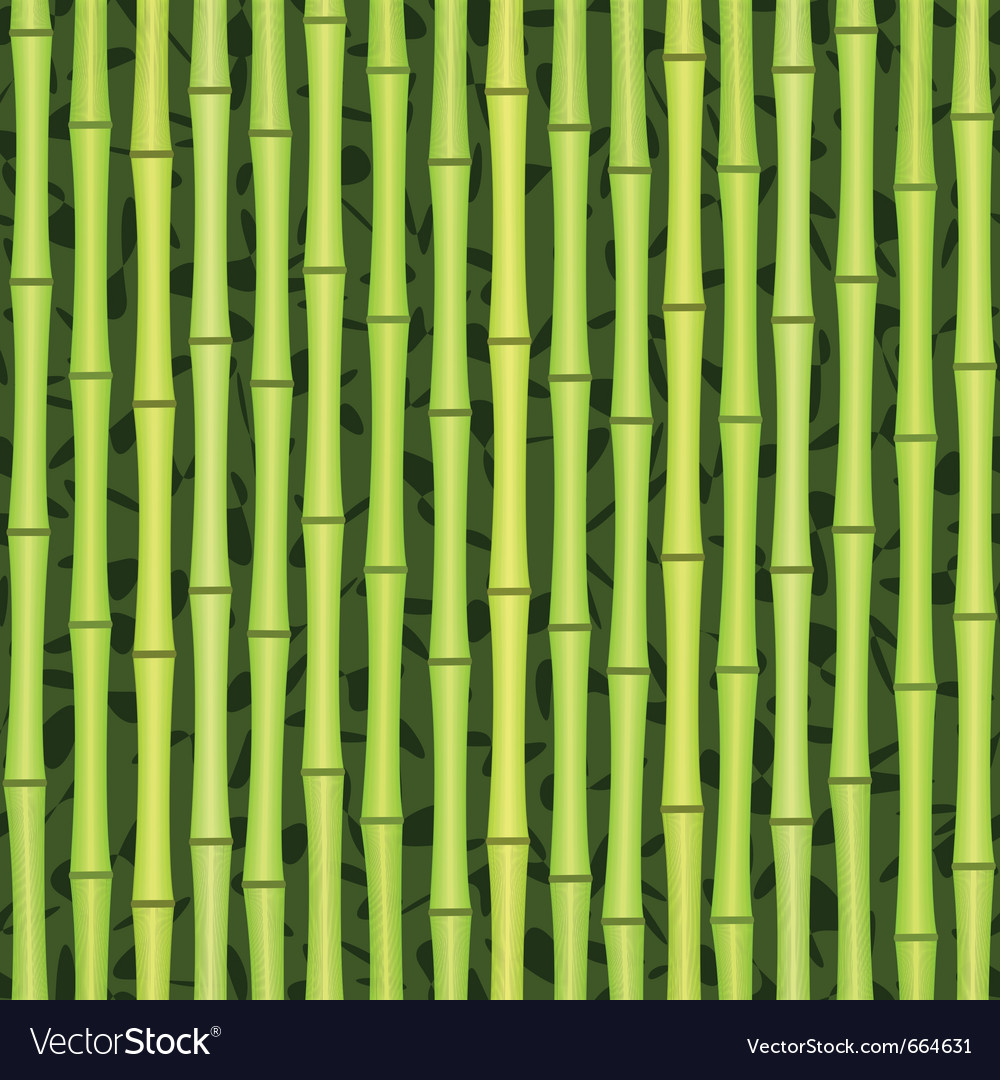 Seamless green bamboo texture vector | Price: 1 Credit (USD $1)