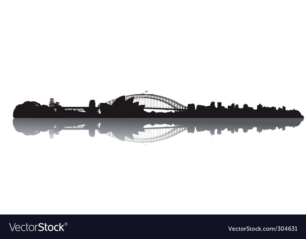 Sydney skyline vector | Price: 1 Credit (USD $1)