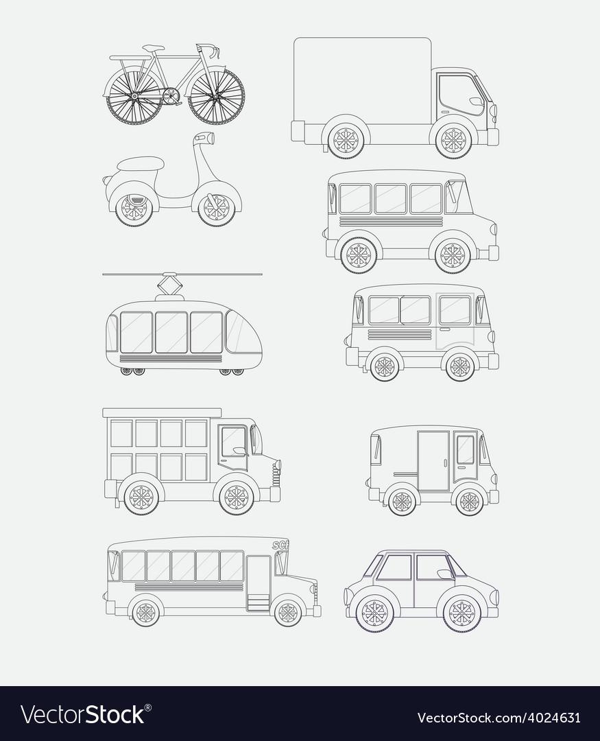 Transport desing vector | Price: 1 Credit (USD $1)