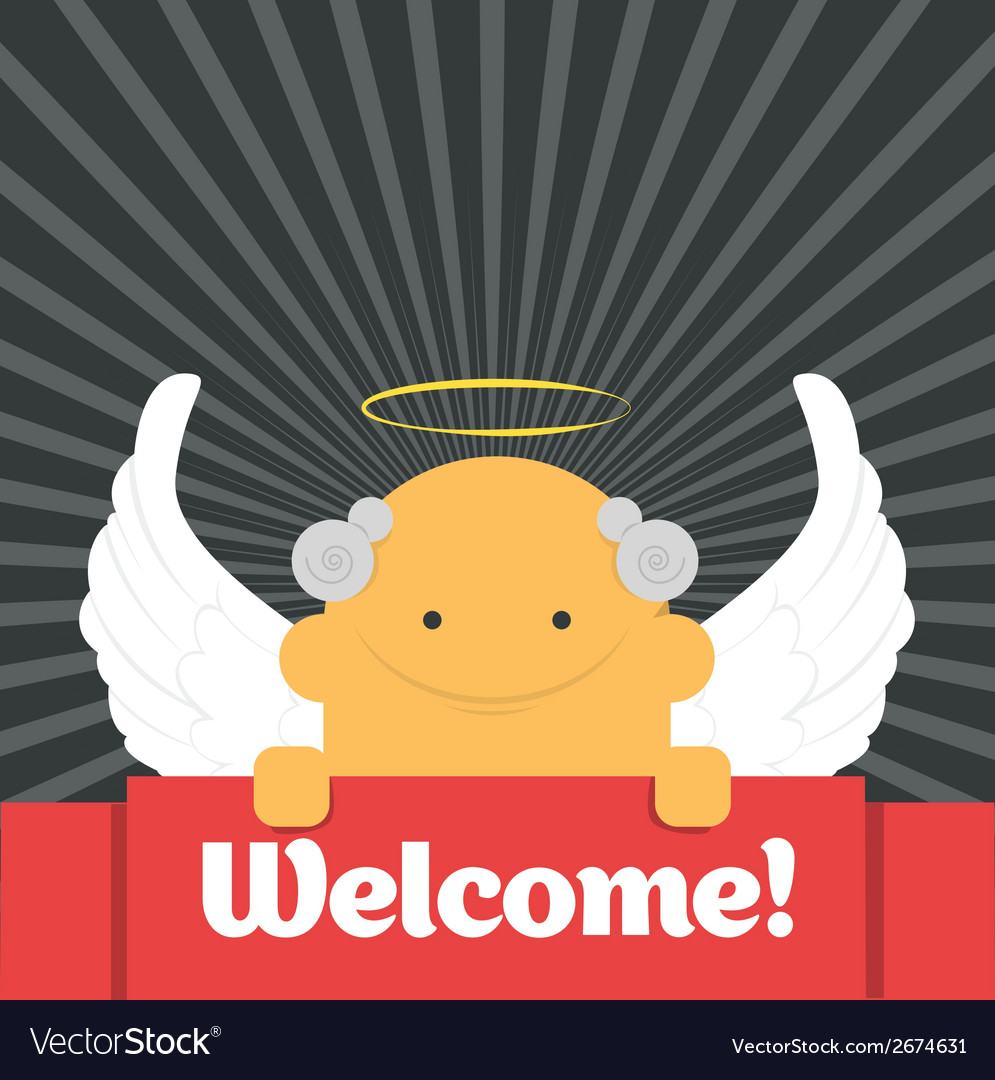 Welcome sign vector | Price: 1 Credit (USD $1)