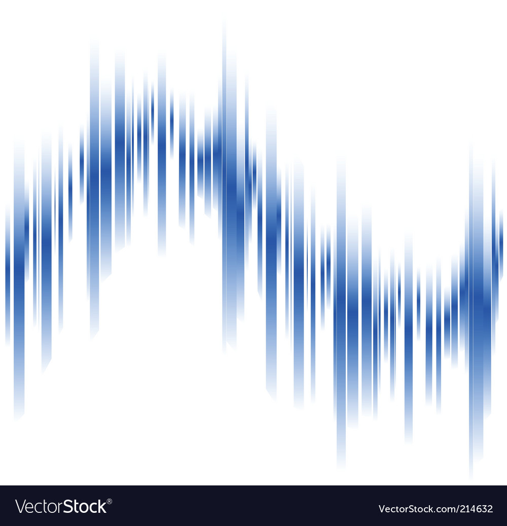 Abstract blue lines in perspective vector | Price: 1 Credit (USD $1)