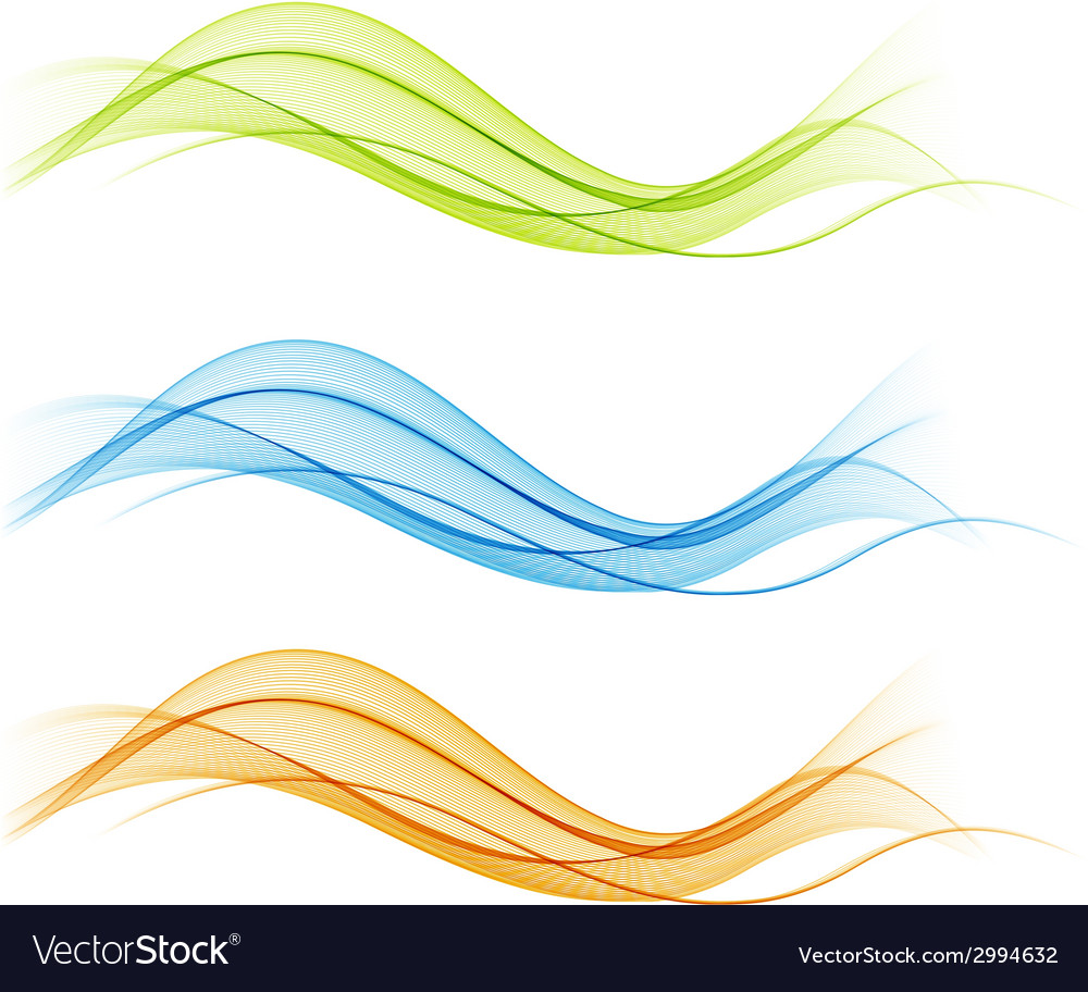 Abstract colorful transparent wave collection vector | Price: 1 Credit (USD $1)
