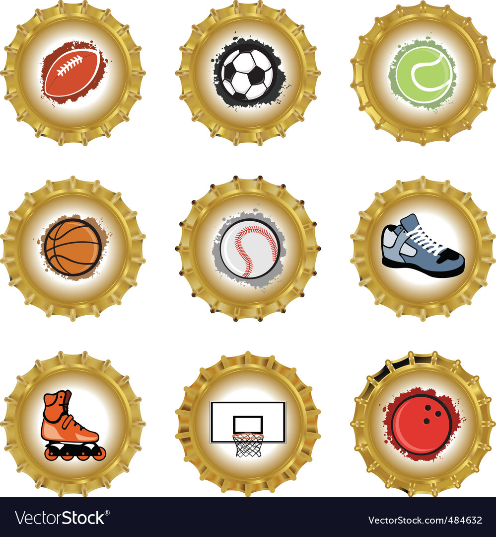 Bottle caps set vector | Price: 1 Credit (USD $1)