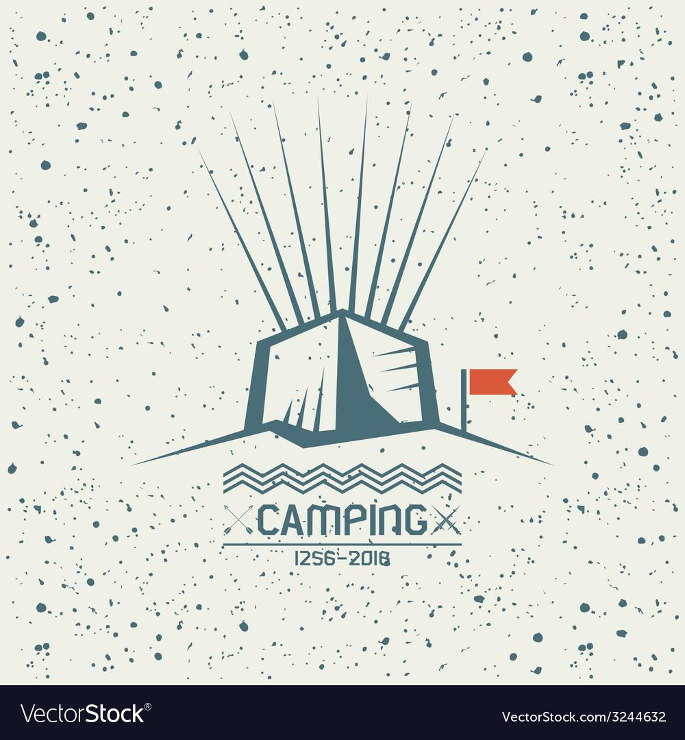 Camping emblem vector | Price: 1 Credit (USD $1)
