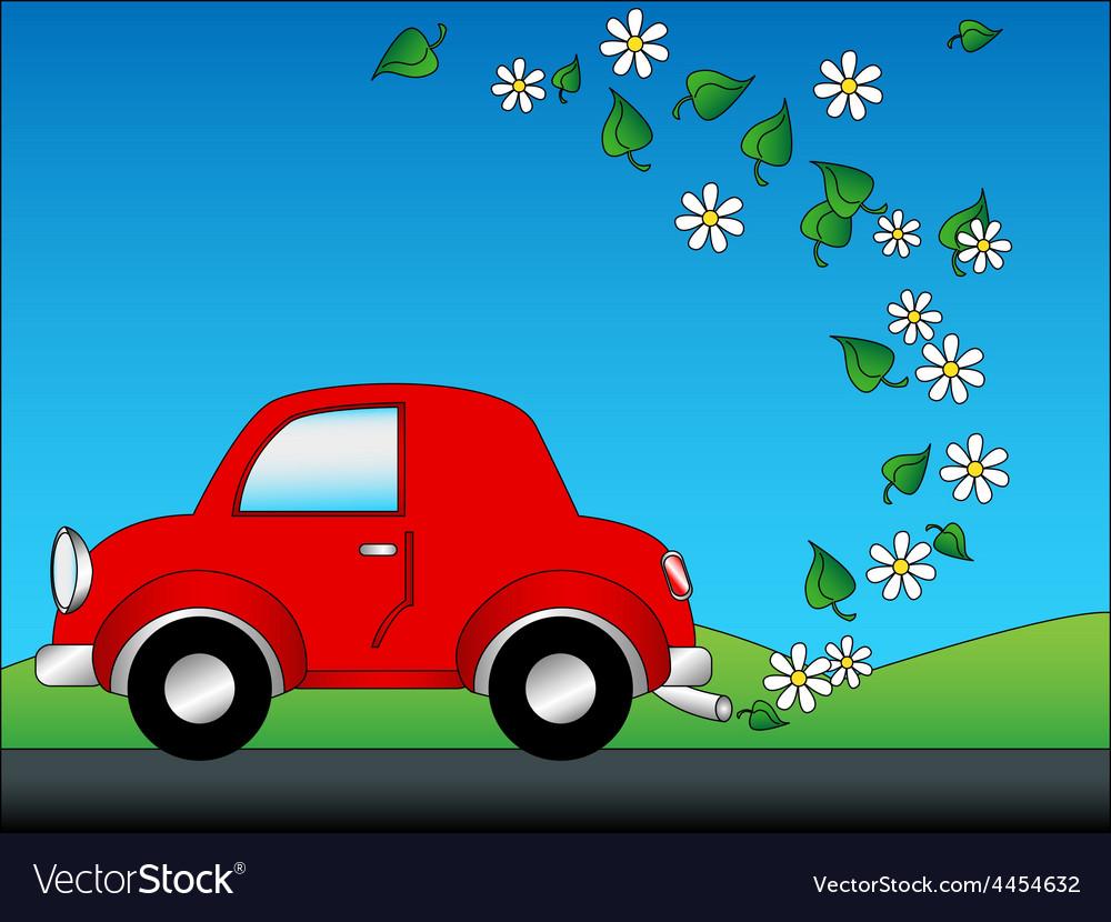 Eco car vector | Price: 1 Credit (USD $1)
