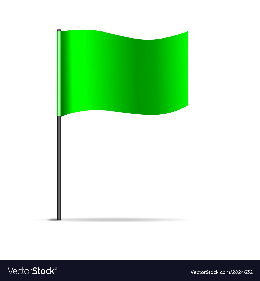 Green flag vector | Price: 1 Credit (USD $1)