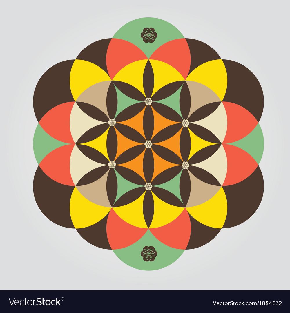 Life seed meditative sign vector | Price: 1 Credit (USD $1)