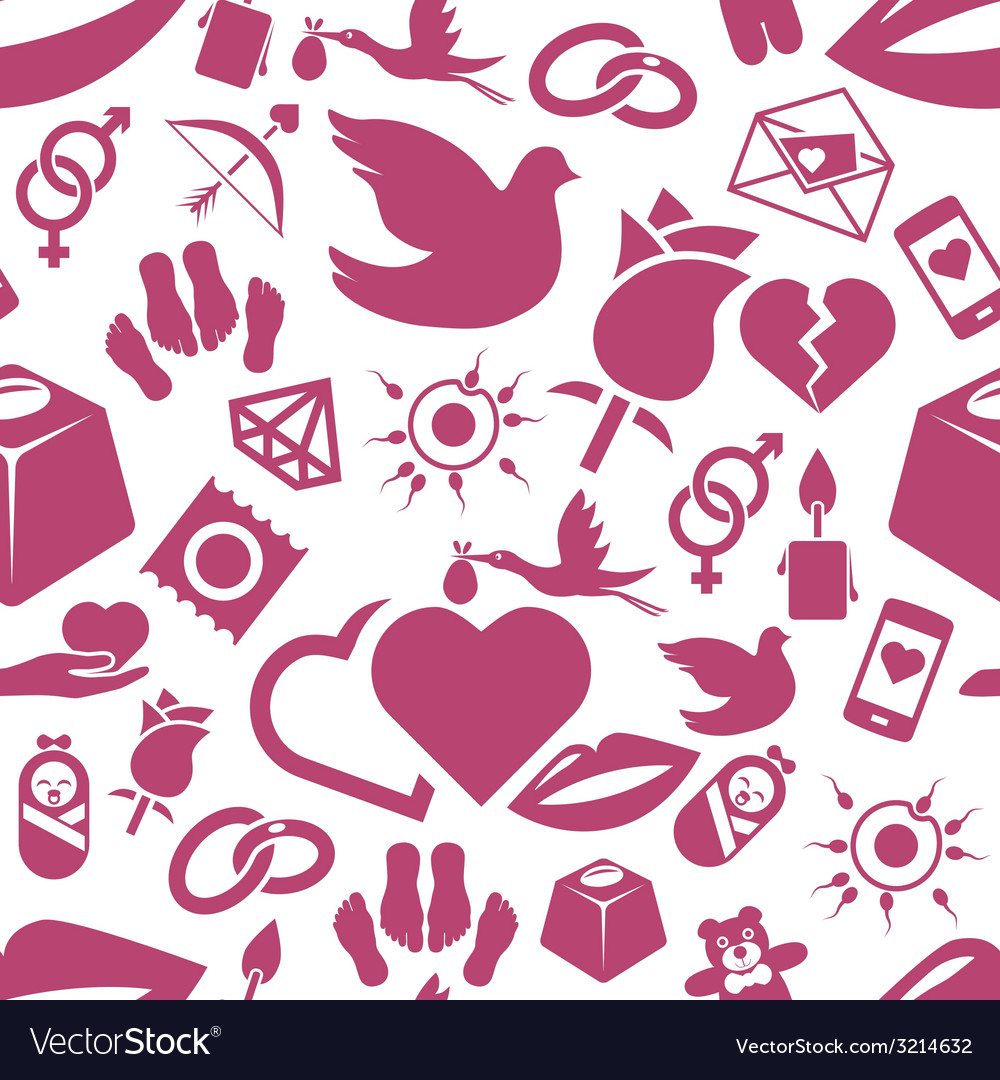 Love seamless pattern vector | Price: 1 Credit (USD $1)
