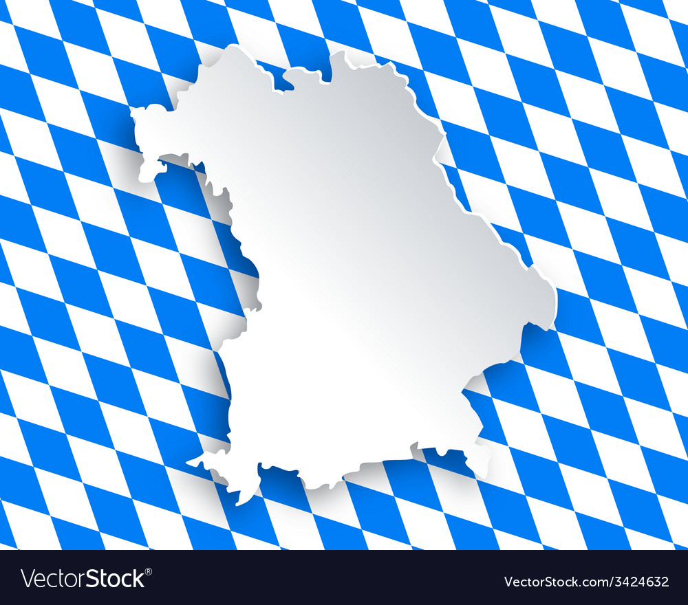 Map and flag of bavaria vector | Price: 1 Credit (USD $1)