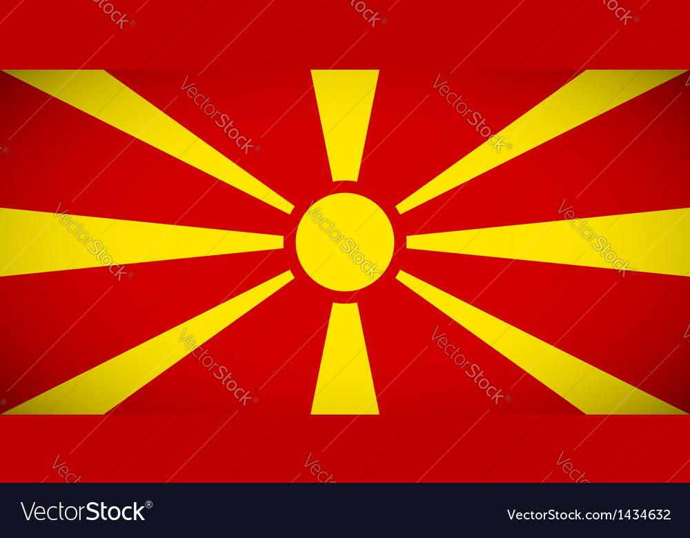 National flag of macedonia vector   Price: 1 Credit (USD $1)