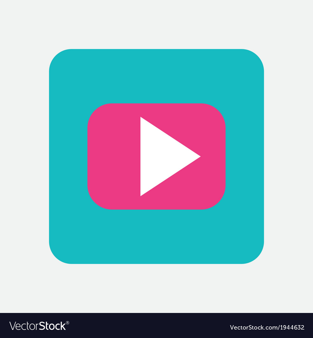 Play icon button vector | Price: 1 Credit (USD $1)