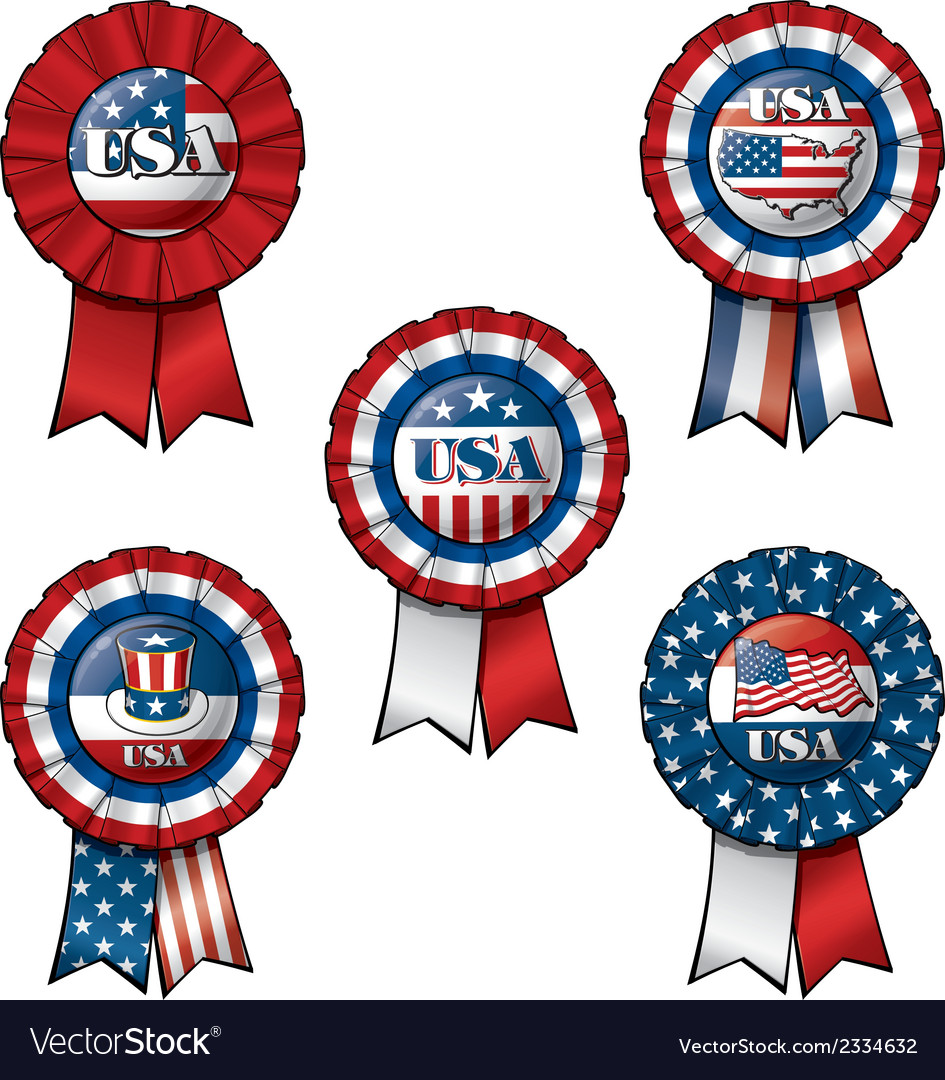 Ribbon usa vector | Price: 1 Credit (USD $1)