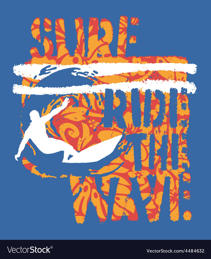 Ride the wave surf vector | Price: 1 Credit (USD $1)
