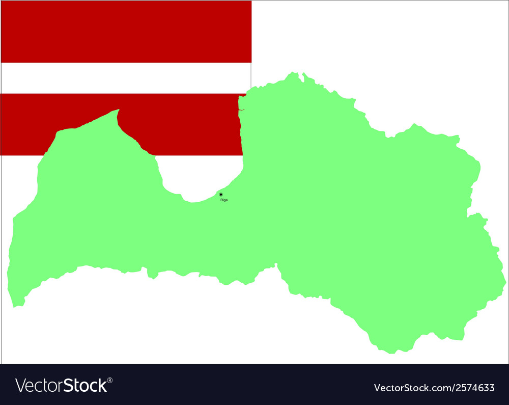 6209 latvian map and flag vector | Price: 1 Credit (USD $1)