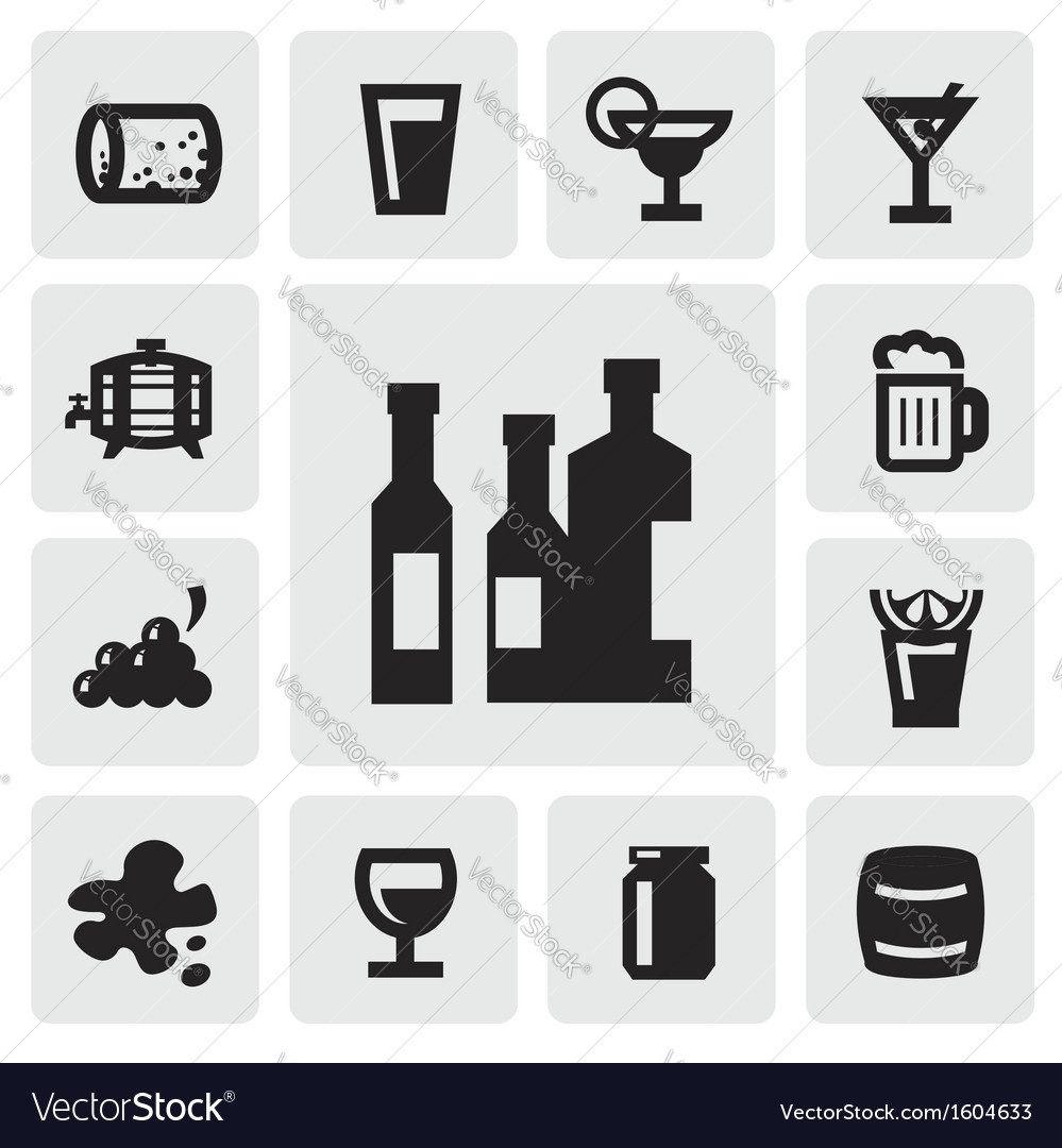 Beverages icons vector   Price: 1 Credit (USD $1)