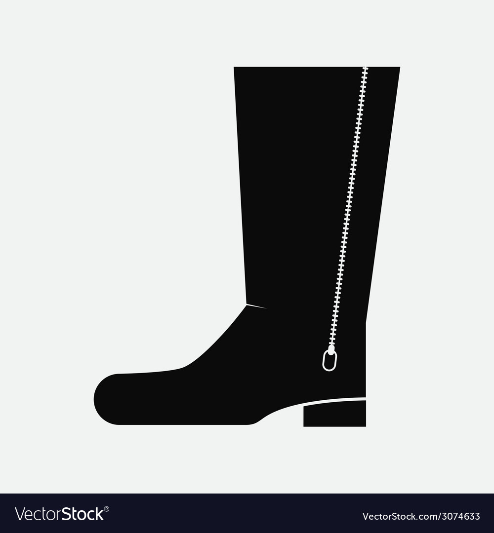 Black boot vector   Price: 1 Credit (USD $1)