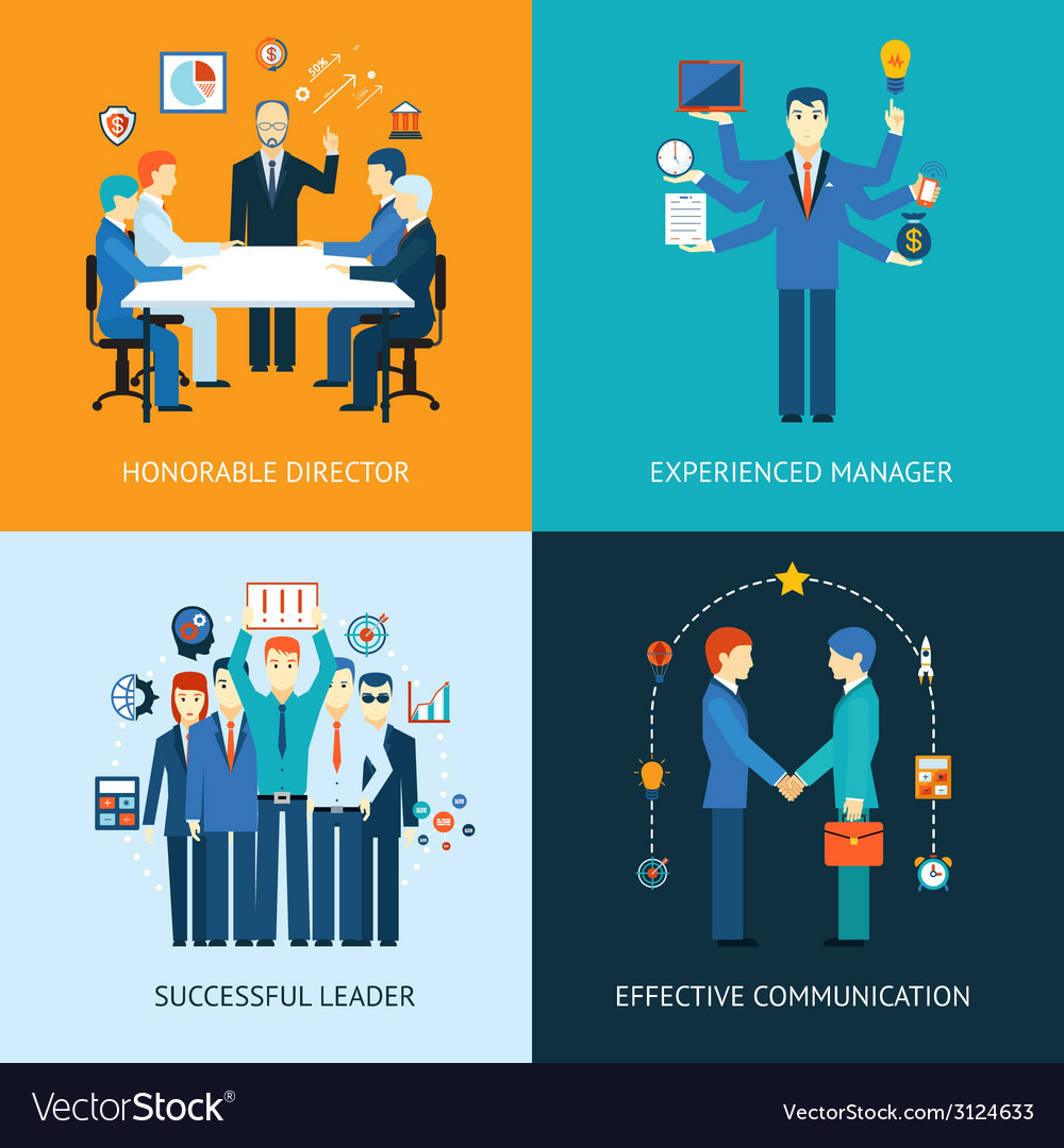 Business team leader banners vector | Price: 1 Credit (USD $1)