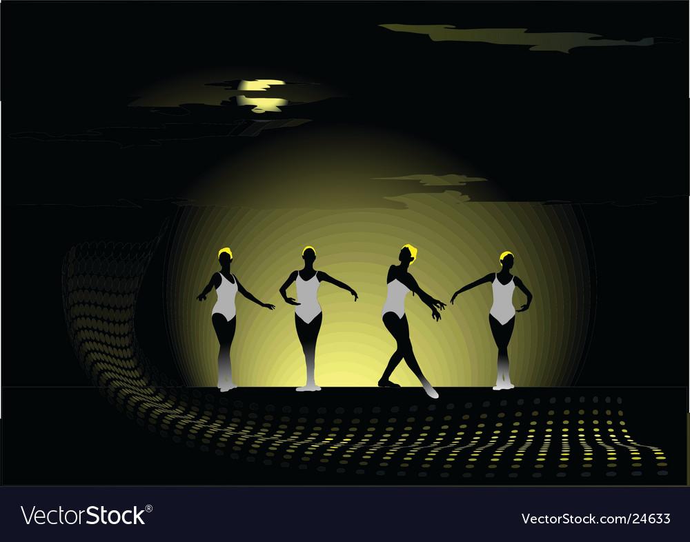 Dancing girls vector | Price: 1 Credit (USD $1)