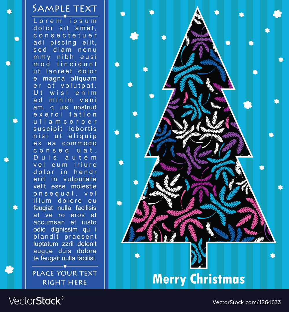 Decorative card with new year tree vector   Price: 1 Credit (USD $1)
