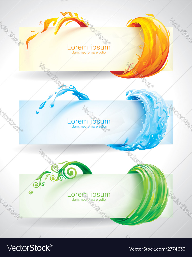 Elements banners vector | Price: 1 Credit (USD $1)