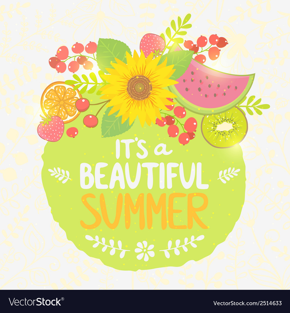 Fruit summer label vector | Price: 1 Credit (USD $1)
