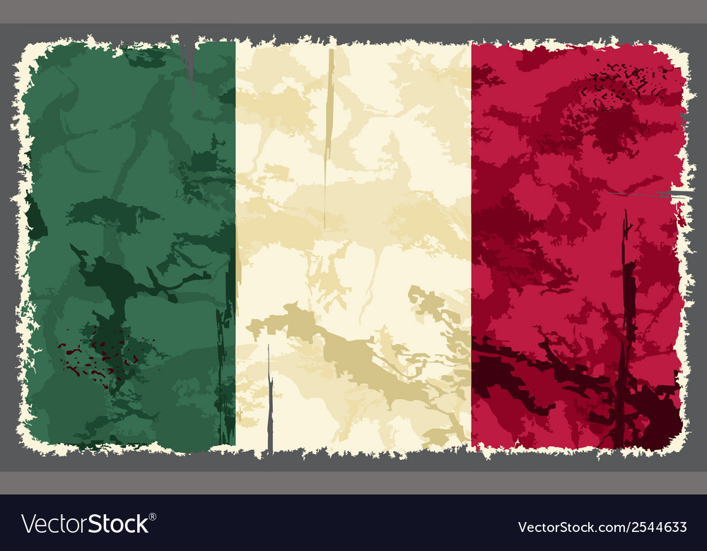 Italian grunge flag vector | Price: 1 Credit (USD $1)