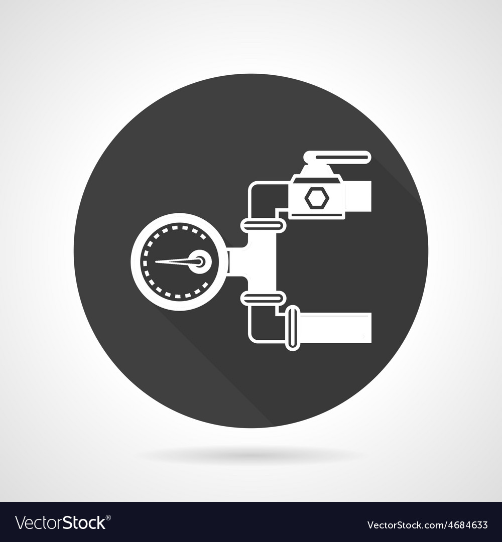 Pipeline gauge black round icon vector | Price: 1 Credit (USD $1)