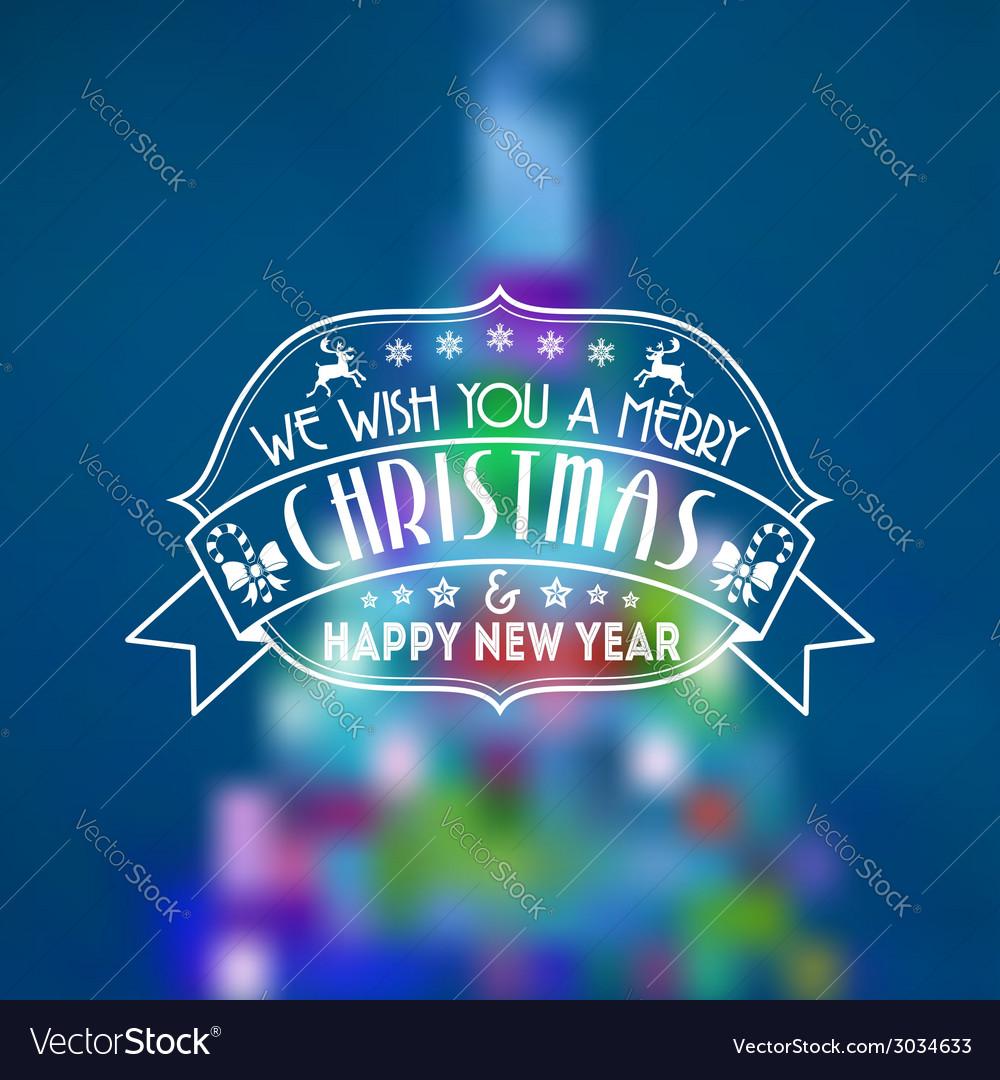 Retro christmas background vector | Price: 1 Credit (USD $1)