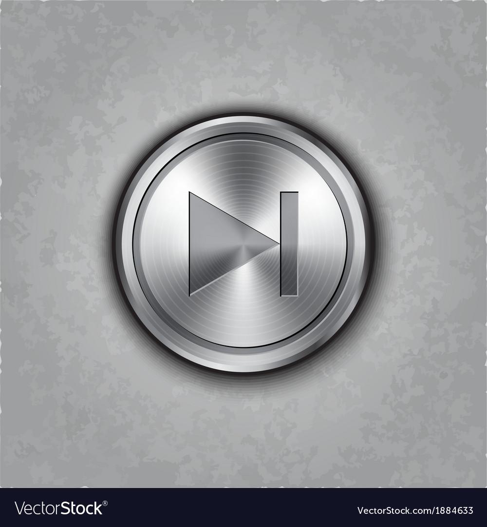 Round metal forward rewind button vector | Price: 1 Credit (USD $1)