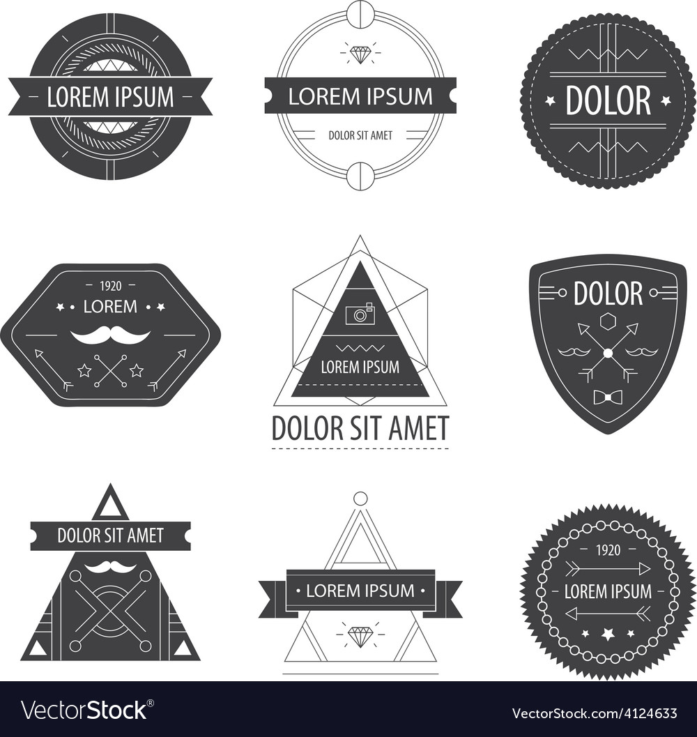 Set of hipster modern labels icons vector | Price: 1 Credit (USD $1)
