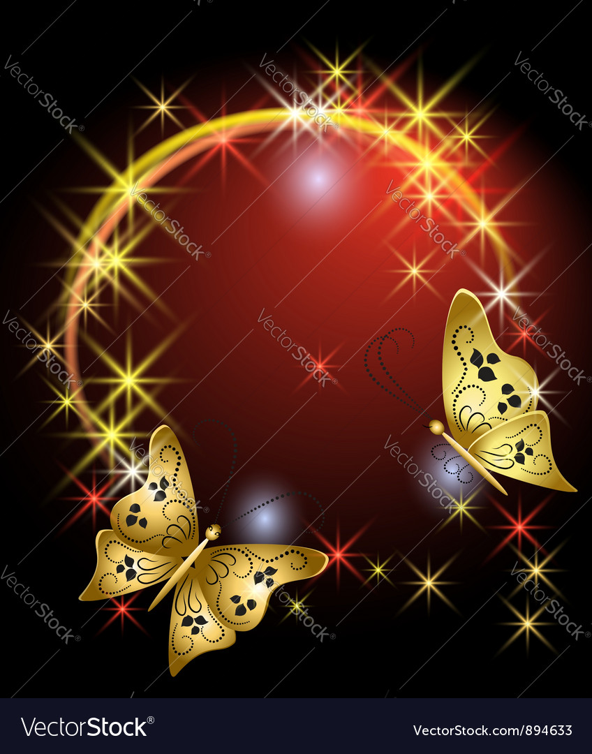 Stars and butterflies vector   Price: 1 Credit (USD $1)