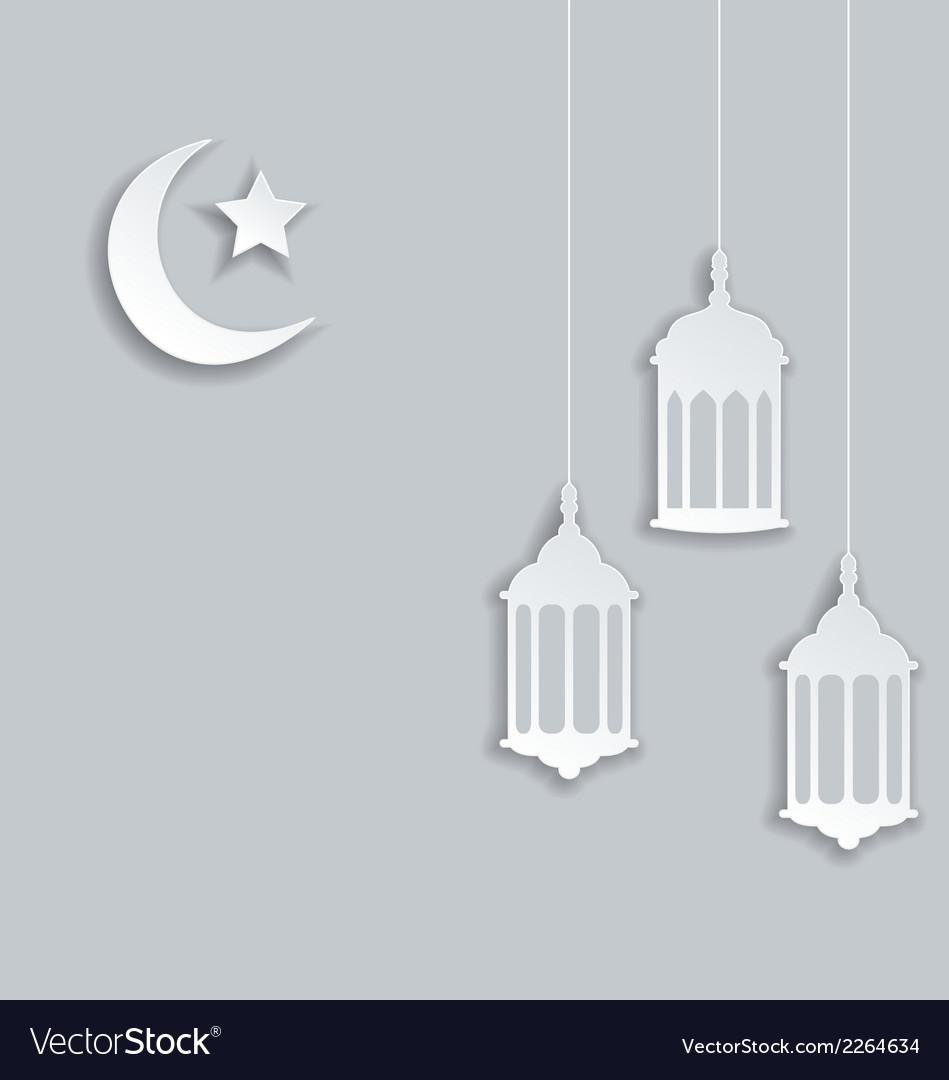 Arabic background for ramadan kareem vector | Price: 1 Credit (USD $1)