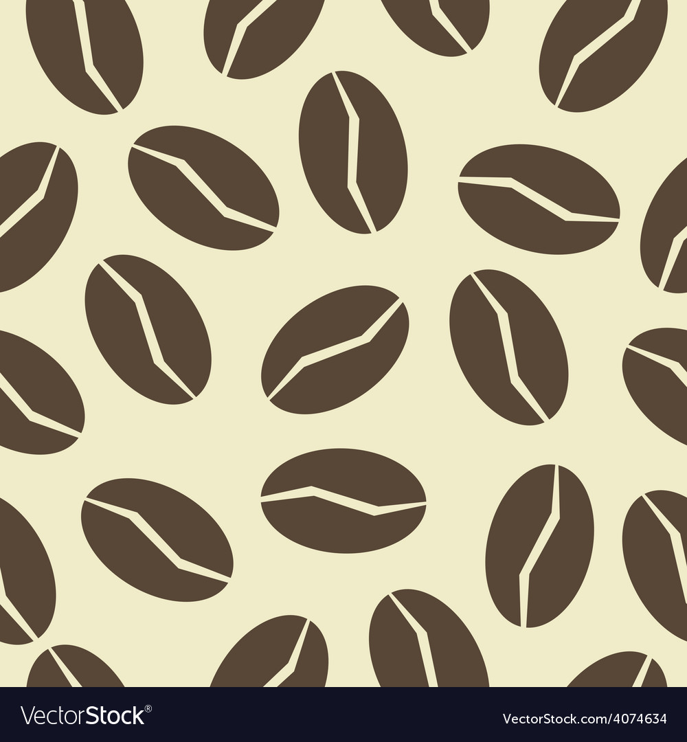 Coffee beans pattern vector | Price: 1 Credit (USD $1)