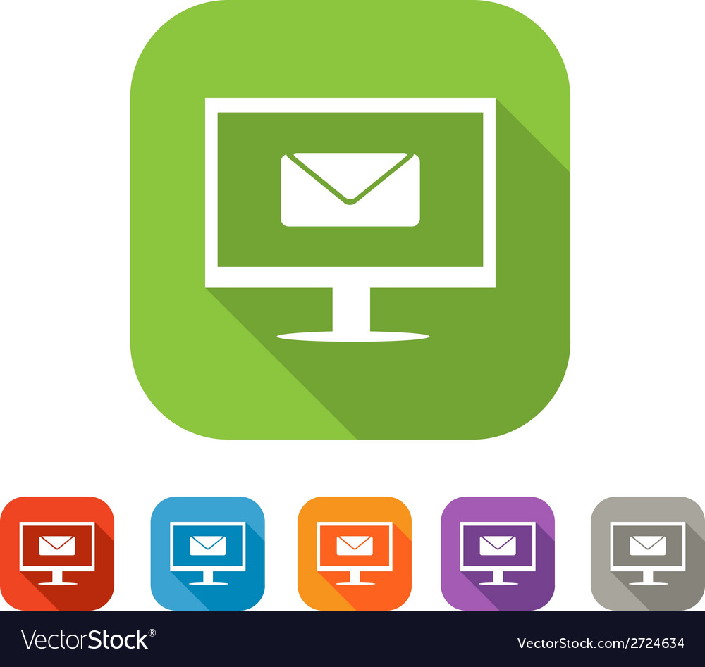 Color set of flat mail icon vector | Price: 1 Credit (USD $1)