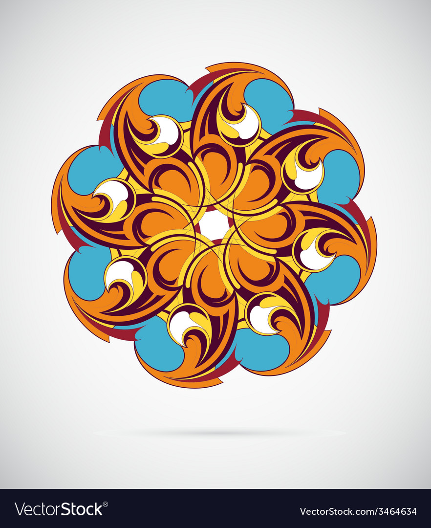 Design element - round mandala ornament vector | Price: 1 Credit (USD $1)