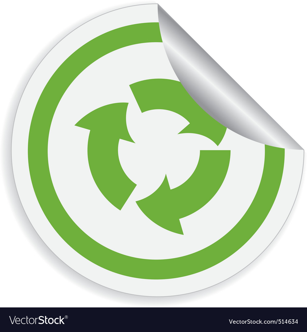 Eco label with recycle symbol vector | Price: 1 Credit (USD $1)