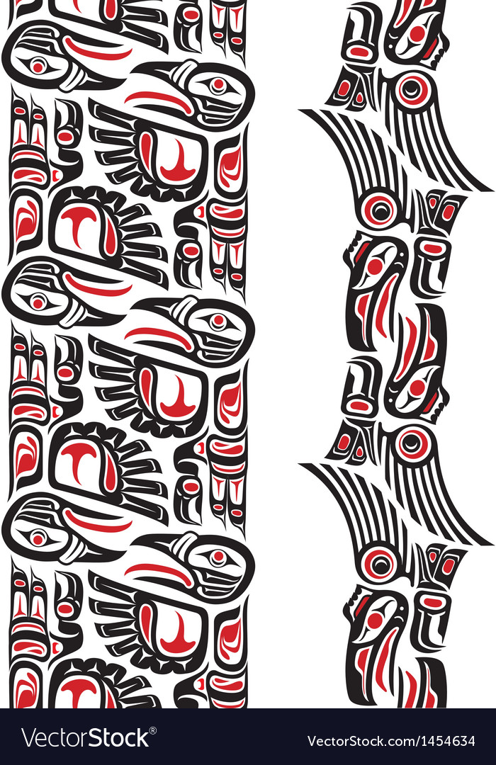 Haida style tattoo pattern vector | Price: 1 Credit (USD $1)